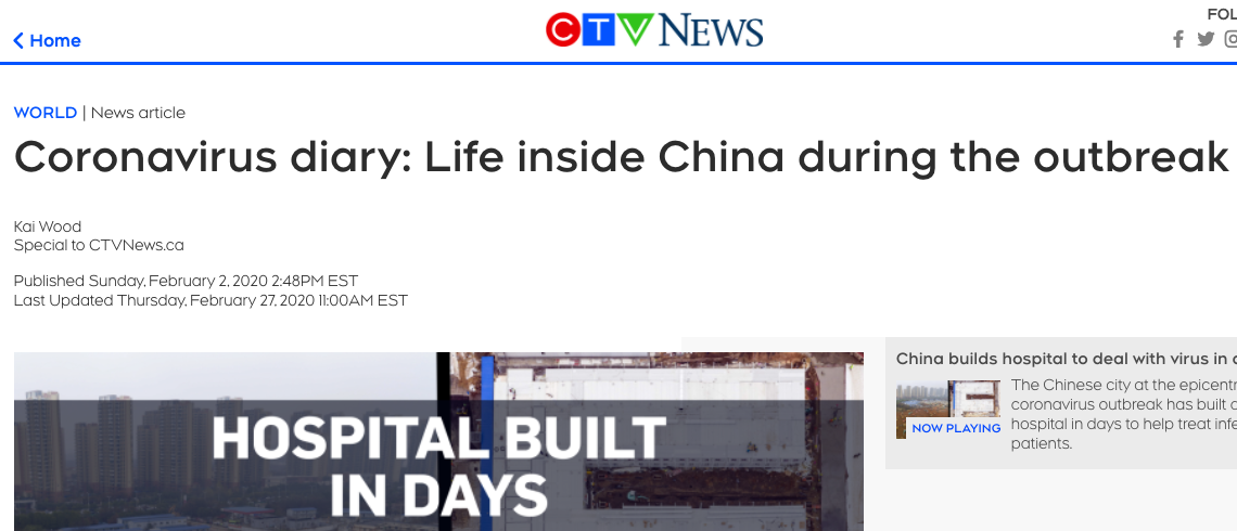 CTV News COVID-19 Lockdown in China Diary